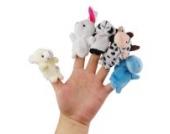 Kleine Fingerpuppen Kinder Spielzeug Zufällige Auswahl - 5 Stück Set Tier Puppen