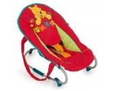 Hauck Rocky V-Pooh red II Babyliege/-wippe, Disneymotiv -red