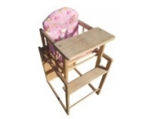 Grafner Hochstuhl für Kinder Holz rosa
