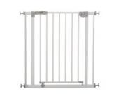 Hauck 597026 Open N Stop Treppen-/Tür- schutzgitter für Kinder, Hunde und Katzen, Befestigung ohne Bohren, zum Klemmen, mit Tür, verstellbar und erweiterbar bis 123 cm, 75-81 cm, weiß/grau
