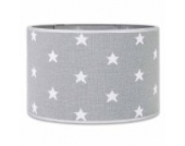 Baby's Only 914795 Lampenschirm Hängelampe Tischlampe Sterne gestrickt, 30 cm, grau/weiß