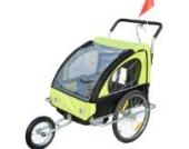Homcom 5664-1099 2 in 1 Jogger Kinder Fahrradanhänger 5 Farben zur Auswahl Neu, grün / schwarz