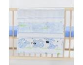 Babybetttasche Betttasche Windeltasche Spielzeugtasche Spielzeughalter ca. 60x60 (Muster: Hund mit Knochen_puderblau)