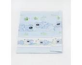 Babybett-Deckenbezug Kinderbett-Deckenbezug Deckenbezug ca. 135x100 für Babybett (Muster: Hund mit Knochen_puderblau)