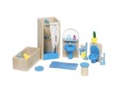 Goki Puppenhausmöbel für das Badezimmer [Kinderspielzeug]