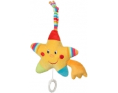 Baby Fehn 70´s Stripes Spieluhr Sternschnuppe (Schlaf Kindchen Schlaf) [Babyspielzeug]