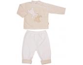 Liliput Langarmshirt mit Hose Hase & Teddy Gr. 62 (Beige-Braun) [Babykleidung]