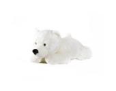 Eisbär Schneeflocke liegend - 140 cm - - Plüschtier von Steiner - handgefertigt in Deutschland - XXL Kuscheltier