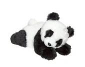 Plüschtier Panda Baby liegend - von STEINER - Kuscheltier handgefertigt in Deutschland