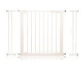 Safetots Schraubenloses Treppengitter - Weiß mit zweifach Verlängerung 99cm - 106.3cm