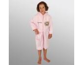 Bademantel mit Namen Bär Fashion Queen rosa Größe 110/116