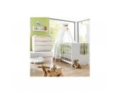 Sparset FRESH (Kinderbett & Wickelkommode) , weiß/bunt Gr. 70 x 140