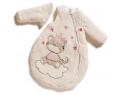 Jacky Nicki Winterschlafsack Tigerkatze Gr. 62/68 mit abnehmbaren Ärmeln (Creme-Pink) [Babykleidung]