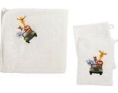 Kinderbutt Frottier-Set 3-tlg. Frottier natur Größe 100x100 cm + 15x21 cm
