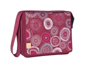 LÄSSIG Wickeltasche Casual Messenger Bag Fossil Rumba Red - rot