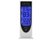LCD Digital LED-Nachtlicht- Hygrometer , Thermometer Hintergrundbeleuchtung Hygrometer-Feuchtigkeits-Messinstrument, mit Alarm / Datum / Uhr / Kalender zb . Für Baby Luft Feuchtigkeitsüberwachung , Pflanzen , Raumluft , ......