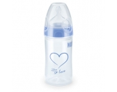 NUK New Classic PP-Flasche mit First Choice + Trinksauger 150ml Silikon Gr. 1 S blau