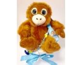 Elfenstall Windeltorte/Pamperstorte mit Schnullerkette/Schnuller und vielen Extras als tolles Geschenk zur Geburt oder Taufe auf Wunsch mit Namen des Babys Nachtlicht Biene Maja