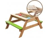 Sun Kindersitzgarnitur mit Sandkasten Freddy 2in1 (Natur-Grün) [Kinderspielzeug]