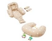 Baby Stillkissen - Clevamama 10in1 - Kissen für Schwangerschaft und Neugeborenen - Cremefarben
