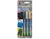 Textilstifte Glitter, 3 Stück
