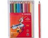 Buntstift Trio dick, 12 Farben, inkl. Bleistift Trio