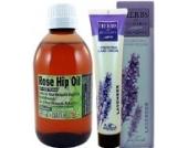 Hagebuttenöl (Rose Hip Oil) 250ml - Top Qualitätsprodukt 100% Reine. Natives. Kaltgepresstes .+ - Die kostenlose Lavendelcreme ohne Parabene