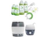 MAM Set - Startset - Babykostwärmer Sterilisier Flaschenset Premium groß - Grün - + gratis Geschenk