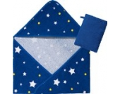 Kinderbutt Frottier-Set 2-tlg. Frottier blau Größe 100x100 cm + 15x21 cm