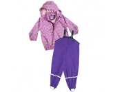 PLAYSHOES Girls Regenanzug ORNAMENT rosa-lila