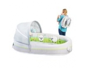 LulyBoo Travel Bassinet - Premium Portable Baby Lounge - With Activity Bar And Rattle Toys by LulyBoo