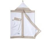 Kapuzenhandtuch Baby in beige weiß von nordic coast | Kuscheliges 100x60cm Waffelpique Handtuch + Waschlappen | Für Ihre Badetuch Baby Erstausstattung