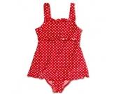 Playshoes Girls UV-Schutz Badeanzug mit Rock Punkte rot - Mädchen