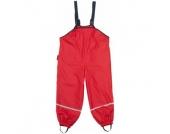 PLAYSHOES Girls Regenträgerhose mit Fleecefutter rot