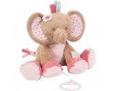 Spieluhr Elefant Rose, Charlotte & Rose, 30 cm