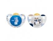 NUK Beruhigungssauger Trendline Latex blau/weiß Gr. 1, 0 - 6 Monate