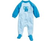 Playshoes Schlafanzug Elefant blau