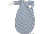 Popolini iobio Schlafsack Winterschlafsack Vario Interlock/Teddyplüsch GOTS Blau-Gestreift S=70cm