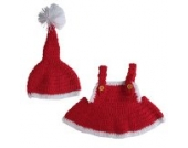 Smile YKK 1 Paar 0-6 Monate Baby Tier Muster Baby Mädchen Strick Kleider Fotografie Props Weihnachten Stil Rot Y
