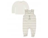 KANZ Strampler & Sweatshirt, gestreift, Giraffe, für Babys