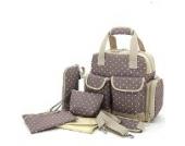 Mami Aufbewahrungstasche Multifunktionale Babytasche Set Baby Windel wickeltasche Wickelunterlage Pflegetasche Tragetasche Organizer Bag (khaki)