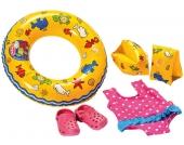 Heless Puppenschwimm-Set mit Badeanzug und Clogs [Kinderspielzeug]