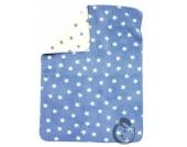 Alvi 931746088 Baumwoll Baby Decke Sterne blau 75x100cm