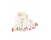 Ayouyou Herbst Winter Mode Mädchen Gestrickte Warme Bonbonfarbenen Schal mit Fransen Schal (Weiß)