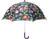 PLAYSHOES Kinder-Regenschirm Serie Flower Power violett