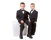 Nr. 401.3 Taufanzug Smoking Anzug zur Taufe Kommunion Hochzeit 6-tlg SCHWARZ 3.Monate - 8.Jahre