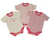 Jacky Body Kurzarm Fellow 3er Pack Gr. 50/56 (Pink-Wei�) [Babykleidung]