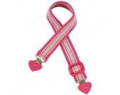 Playshoes Elastik-Gürtel Herz-Clip Ringel pink / gestreift - Mädchen