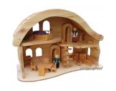 Verneuer Puppenhaus mit Balkon