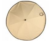 Asmi UV Sonnenschirm Elite XL 70 beige caramel mit Silence Clip 2 Halterung UPF 50